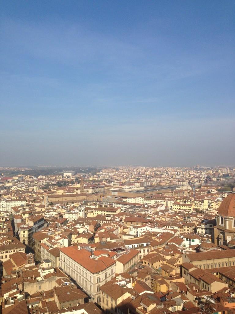 Вид на Флоренцию с Башни Джотто
