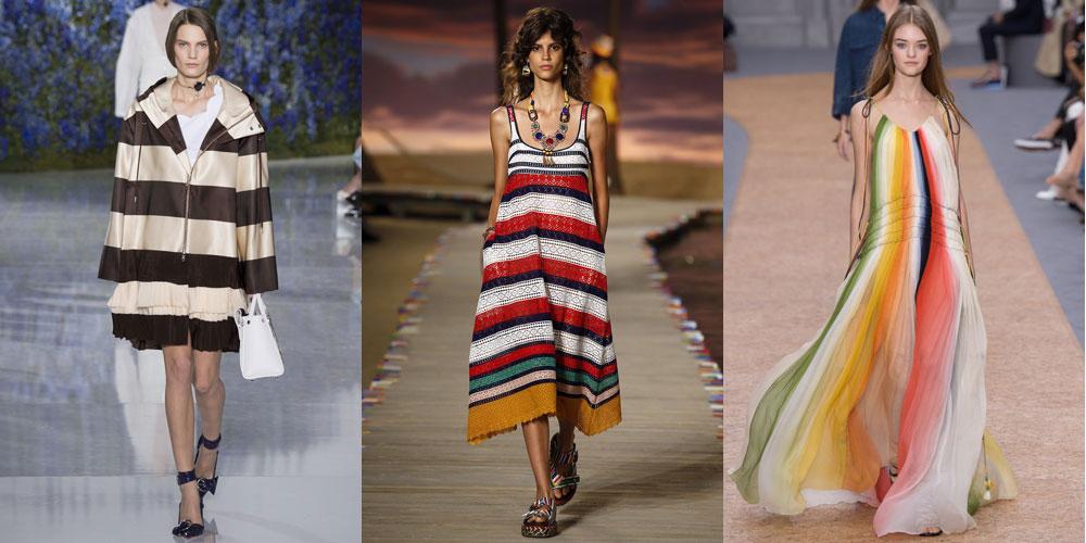 Весенне-летние идеи полосок от Christian Dior, Tommy Hilfiger и Chloe