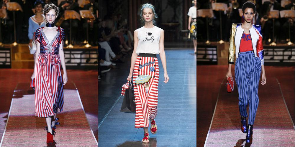 Весенне-летние полоски от Marc Jacobs и Dolce&Gabbana
