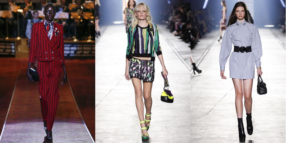 Вертикальные полоски, варианты Marc_Jacobs и Versace
